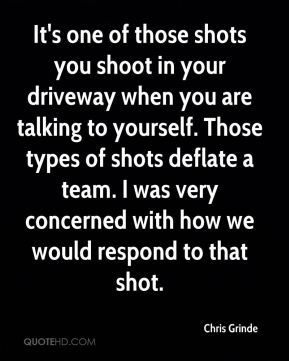It's one of those shots you shoot in your driveway when you are talking to yourself. Those types of shots deflate a team. I was very concerned with how we would respond to that shot.