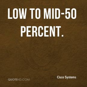 low to mid-50 percent.