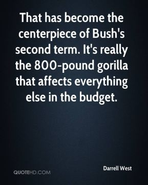 That has become the centerpiece of Bush's second term. It's really the 800-pound gorilla that affects everything else in the budget.