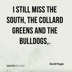I still miss the South, the collard greens and the Bulldogs.