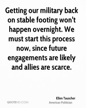 Getting our military back on stable footing won't happen overnight. We must start this process now, since future engagements are likely and allies are scarce.