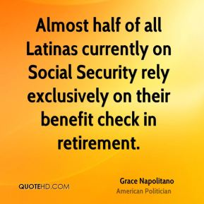 Almost half of all Latinas currently on Social Security rely exclusively on their benefit check in retirement.