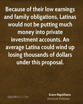 Because of their low earnings and family obligations, Latinas would not be putting much money into private investment accounts. An average Latina could wind up losing thousands of dollars under this proposal.