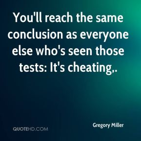 You'll reach the same conclusion as everyone else who's seen those tests: It's cheating.