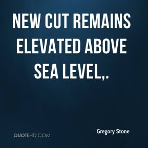 Gregory Stone - New Cut remains elevated above sea level.