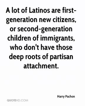 A lot of Latinos are first-generation new citizens, or second-generation children of immigrants, who don't have those deep roots of partisan attachment.