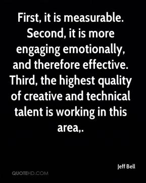 First, it is measurable. Second, it is more engaging emotionally, and therefore effective. Third, the highest quality of creative and technical talent is working in this area.