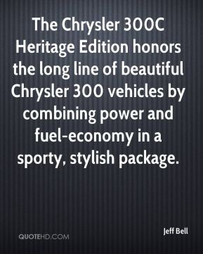 The Chrysler 300C Heritage Edition honors the long line of beautiful Chrysler 300 vehicles by combining power and fuel-economy in a sporty, stylish package.