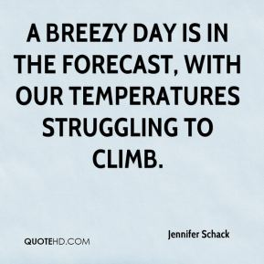 Jennifer Schack  - A breezy day is in the forecast, with our temperatures struggling to climb.