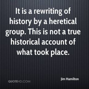 It is a rewriting of history by a heretical group. This is not a true historical account of what took place.