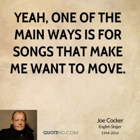 Yeah, one of the main ways is for songs that make me want to move.