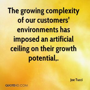 Joe Tucci  - The growing complexity of our customers' environments has imposed an artificial ceiling on their growth potential.