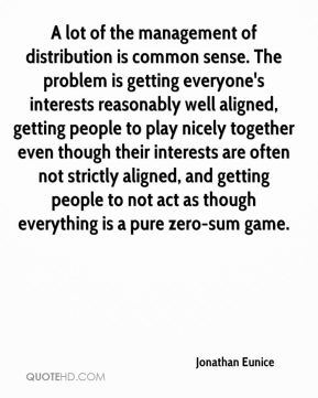 A lot of the management of distribution is common sense. The problem is getting everyone's interests reasonably well aligned, getting people to play nicely together even though their interests are often not strictly aligned, and getting people to not act as though everything is a pure zero-sum game.