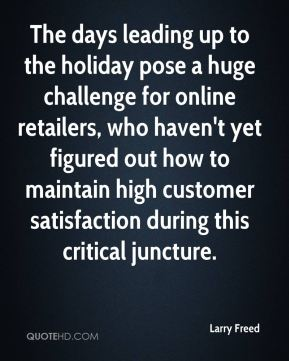 The days leading up to the holiday pose a huge challenge for online retailers, who haven't yet figured out how to maintain high customer satisfaction during this critical juncture.