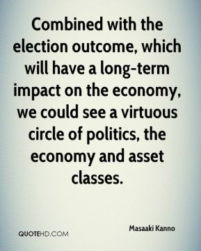 Masaaki Kanno  - Combined with the election outcome, which will have a long-term impact on the economy, we could see a virtuous circle of politics, the economy and asset classes.