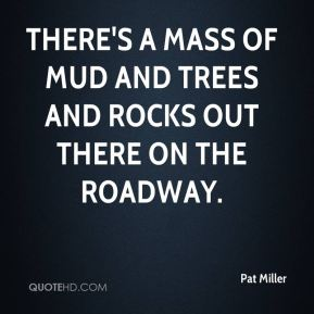 There's a mass of mud and trees and rocks out there on the roadway.