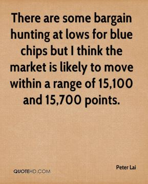 Peter Lai  - There are some bargain hunting at lows for blue chips but I think the market is likely to move within a range of 15,100 and 15,700 points.