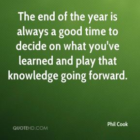 The end of the year is always a good time to decide on what you've learned and play that knowledge going forward.