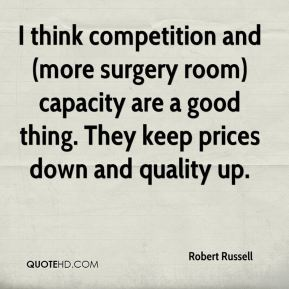 I think competition and (more surgery room) capacity are a good thing. They keep prices down and quality up.