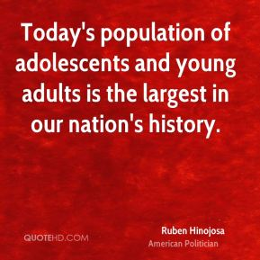 Today's population of adolescents and young adults is the largest in our nation's history.