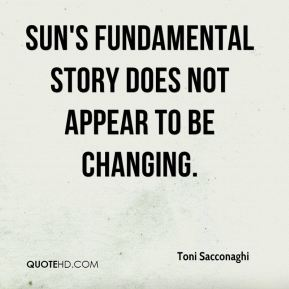 Toni Sacconaghi  - Sun's fundamental story does not appear to be changing.