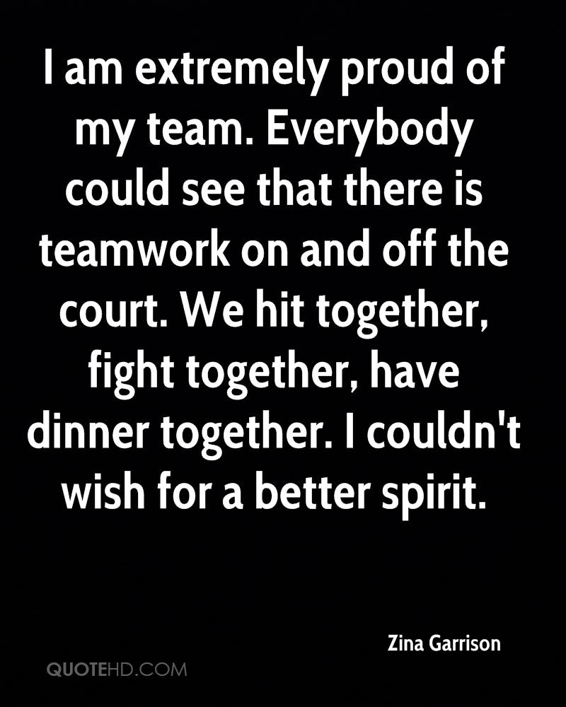 Teamwork Quotes Zina Garrison Quotes  Quotehd