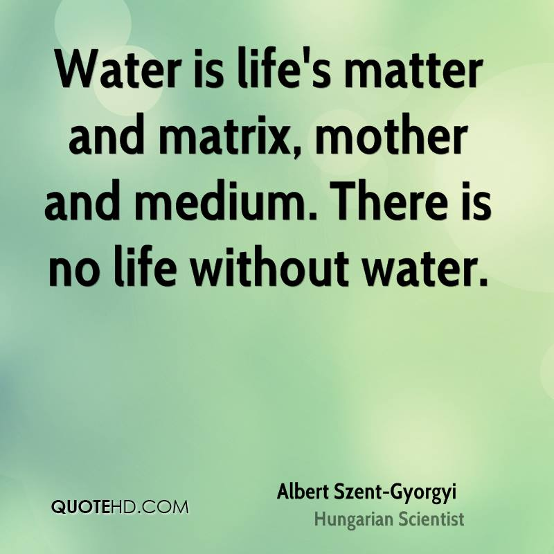 water is life quotes