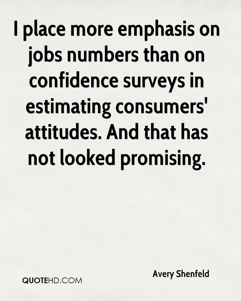 I place more emphasis on jobs numbers than on confidence surveys in estimating consumers' attitudes. And that has not looked promising.