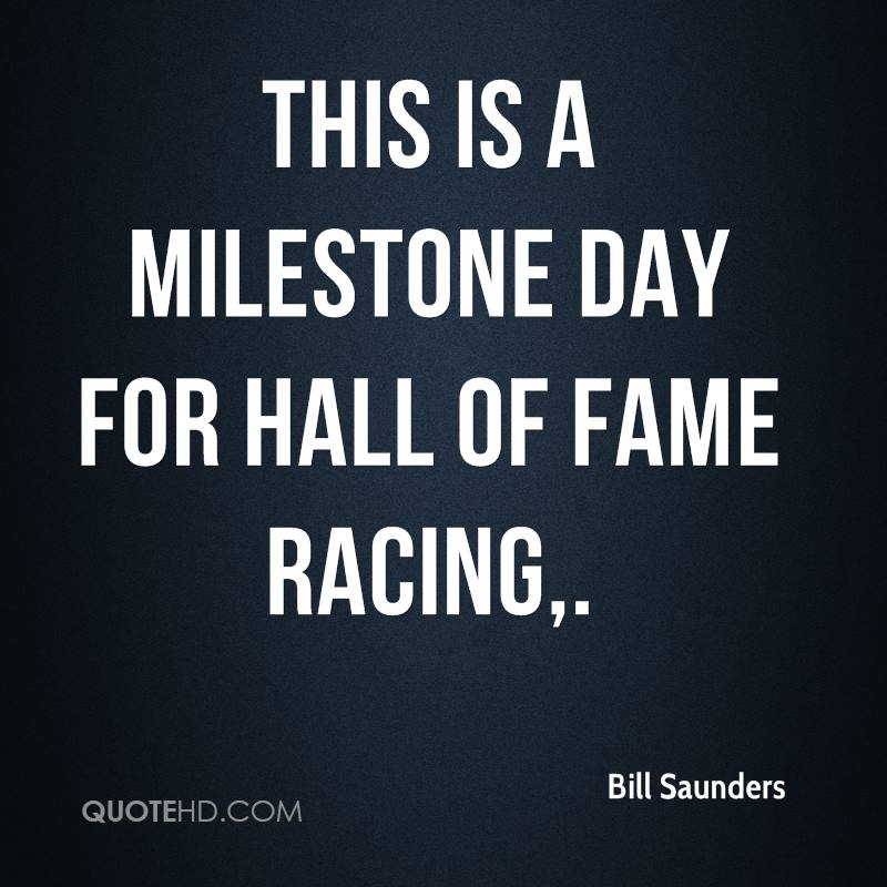 This is a milestone day for Hall of Fame Racing.