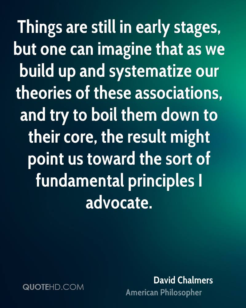 Things are still in early stages, but one can imagine that as we build up and systematize our theories of these associations, and try to boil them down to their core, the result might point us toward the sort of fundamental principles I advocate.