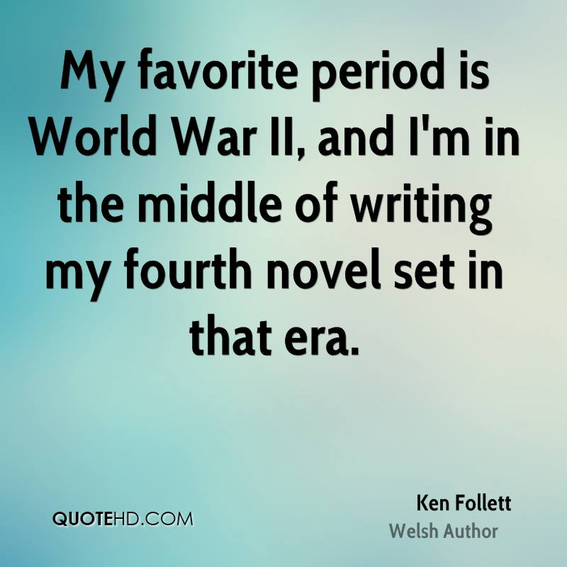 My favorite period is World War II, and I'm in the middle of writing my fourth novel set in that era.