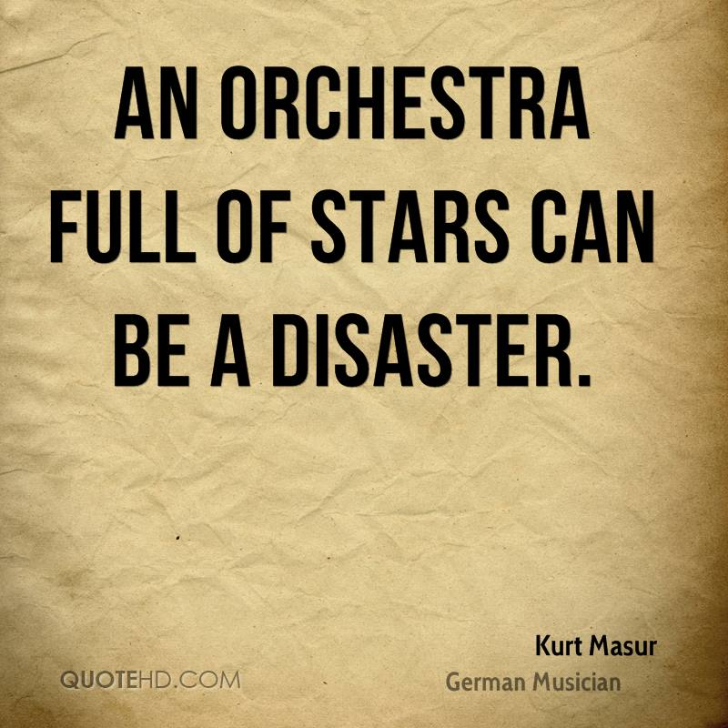 An orchestra full of stars can be a disaster.