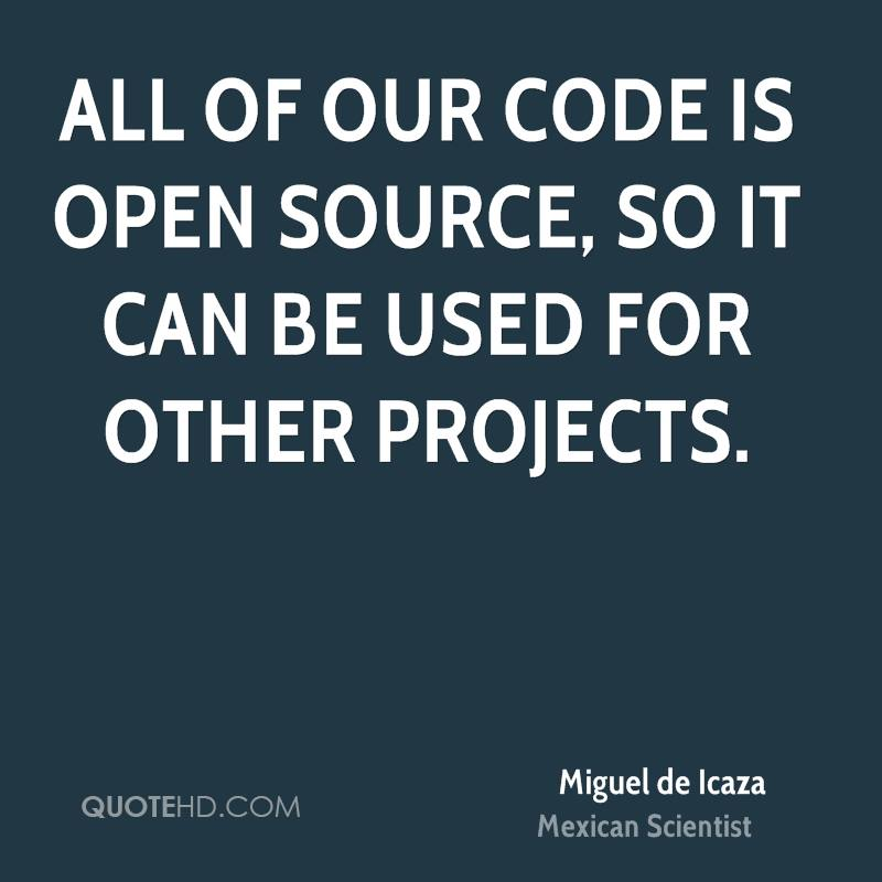 All of our code is open source, so it can be used for other projects.