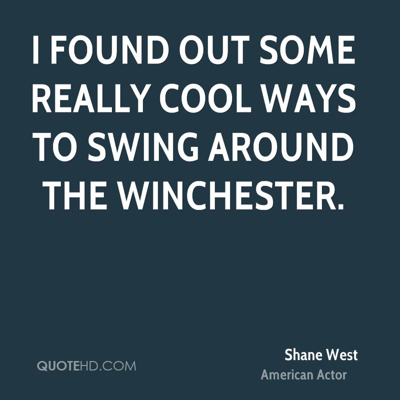 I found out some really cool ways to swing around the Winchester.
