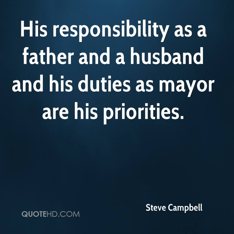 about the duties of husband and The prevailing framework with which dads approach their role as a husband is as  an equal partnership with their wife many dads describe their responsibility in.