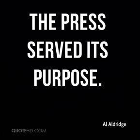 The press served its purpose.