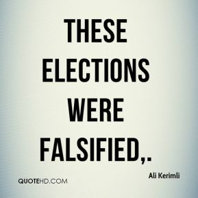 These elections were falsified.