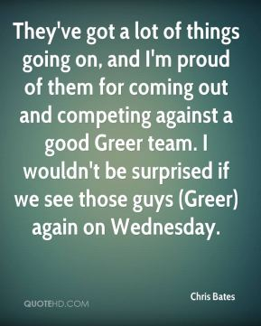 They've got a lot of things going on, and I'm proud of them for coming out and competing against a good Greer team. I wouldn't be surprised if we see those guys (Greer) again on Wednesday.