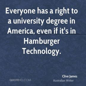 Everyone has a right to a university degree in America, even if it's in Hamburger Technology.