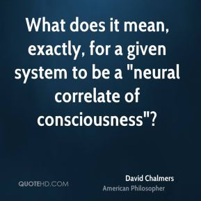 """David Chalmers - What does it mean, exactly, for a given system to be a """"neural correlate of consciousness""""?"""