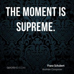 The moment is supreme.