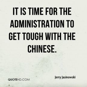 It is time for the administration to get tough with the Chinese.