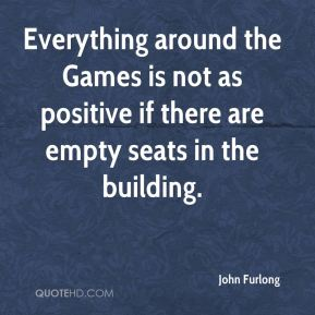 Everything around the Games is not as positive if there are empty seats in the building.