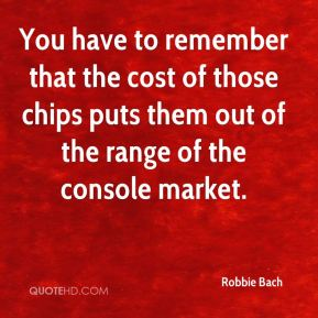 You have to remember that the cost of those chips puts them out of the range of the console market.