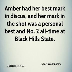 Amber had her best mark in discus, and her mark in the shot was a personal best and No. 2 all-time at Black Hills State.