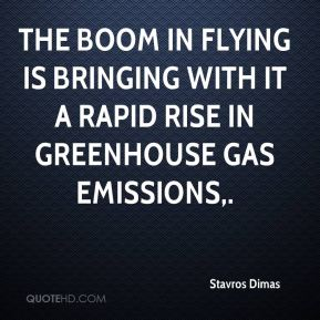 Stavros Dimas  - The boom in flying is bringing with it a rapid rise in greenhouse gas emissions.