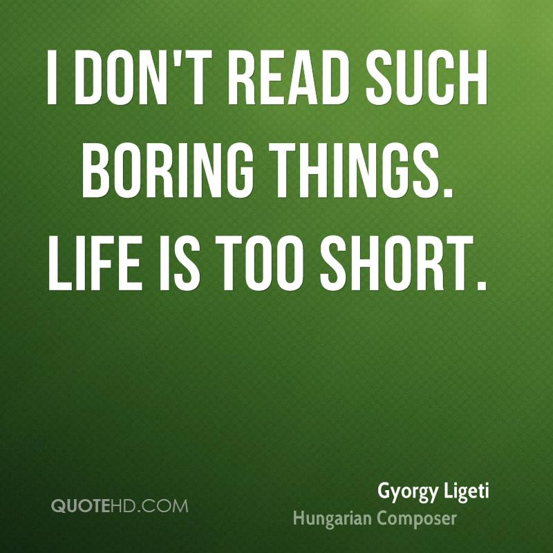 I don't read such boring things. Life is too short.