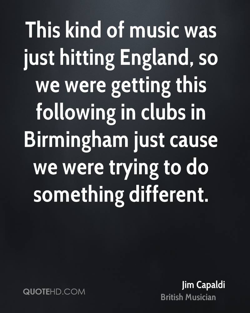 This kind of music was just hitting England, so we were getting this following in clubs in Birmingham just cause we were trying to do something different.