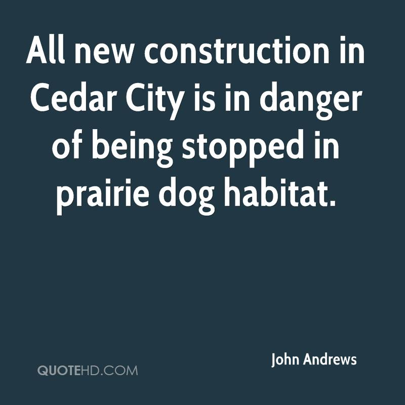 All new construction in Cedar City is in danger of being stopped in prairie dog habitat.