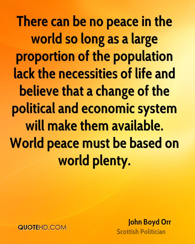 John Boyd Orr Peace Quotes Quotehd
